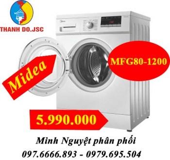 MFG80-1200 máy giặt lồng ngang midea 8kg